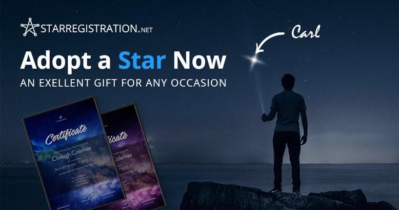 Adopt a star Certificate